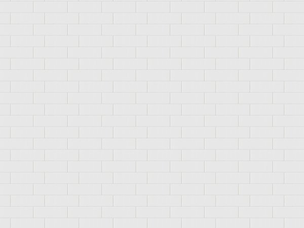 Wall Mural R14891 Oblong Tiles, White image 1 by Rebel Walls