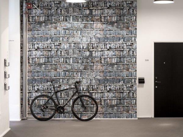 Tapete R14811 Stacked Bricks Bild 1 von Rebel Walls