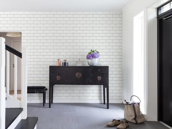 Wall Mural R14862 Bistro Tiles, White image 1 by Rebel Walls
