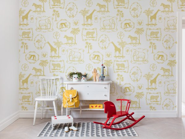 Wall Mural R15272 Animal Party, Yellow image 1 by Rebel Walls
