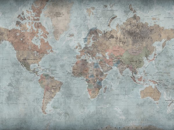 Wall Mural R15351 Around The World image 1 by Rebel Walls