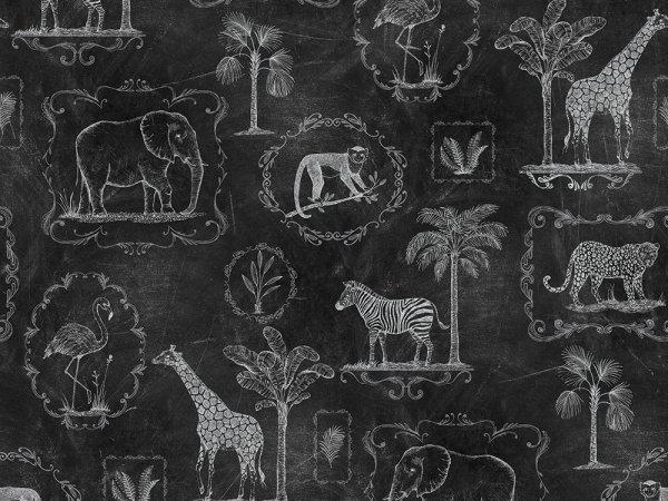Wall Mural R15273 Animal Party, Blackboard image 1 by Rebel Walls