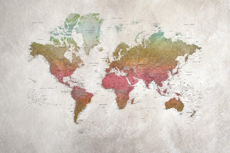 School Atlas, Rainbow | R13902 | Rebel Walls DE