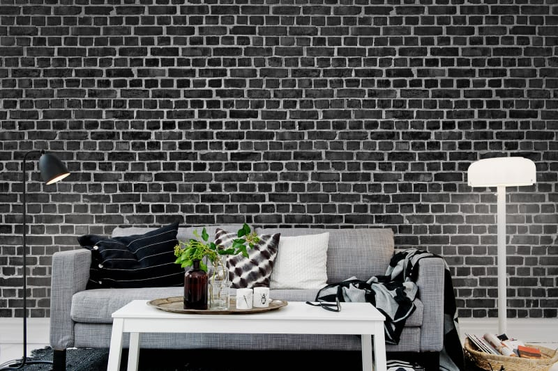Brick Wall Black