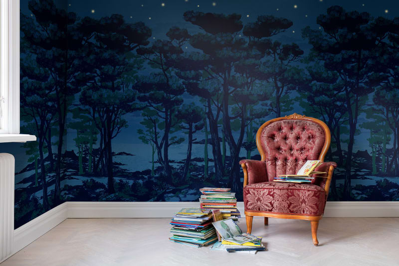 ... Enchanted Forest Wall Mural The Enchanted Forest R14462 Rebel Walls En  Us ... Part 45