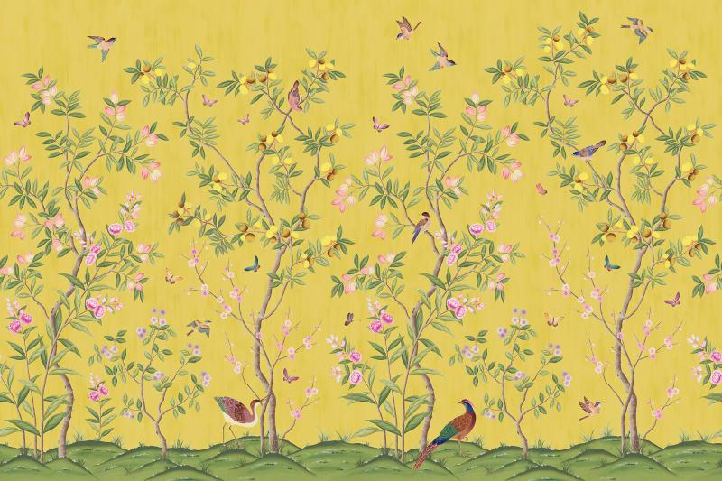 Chinoiserie Chic Saffron R16745 Rebel Walls Nz