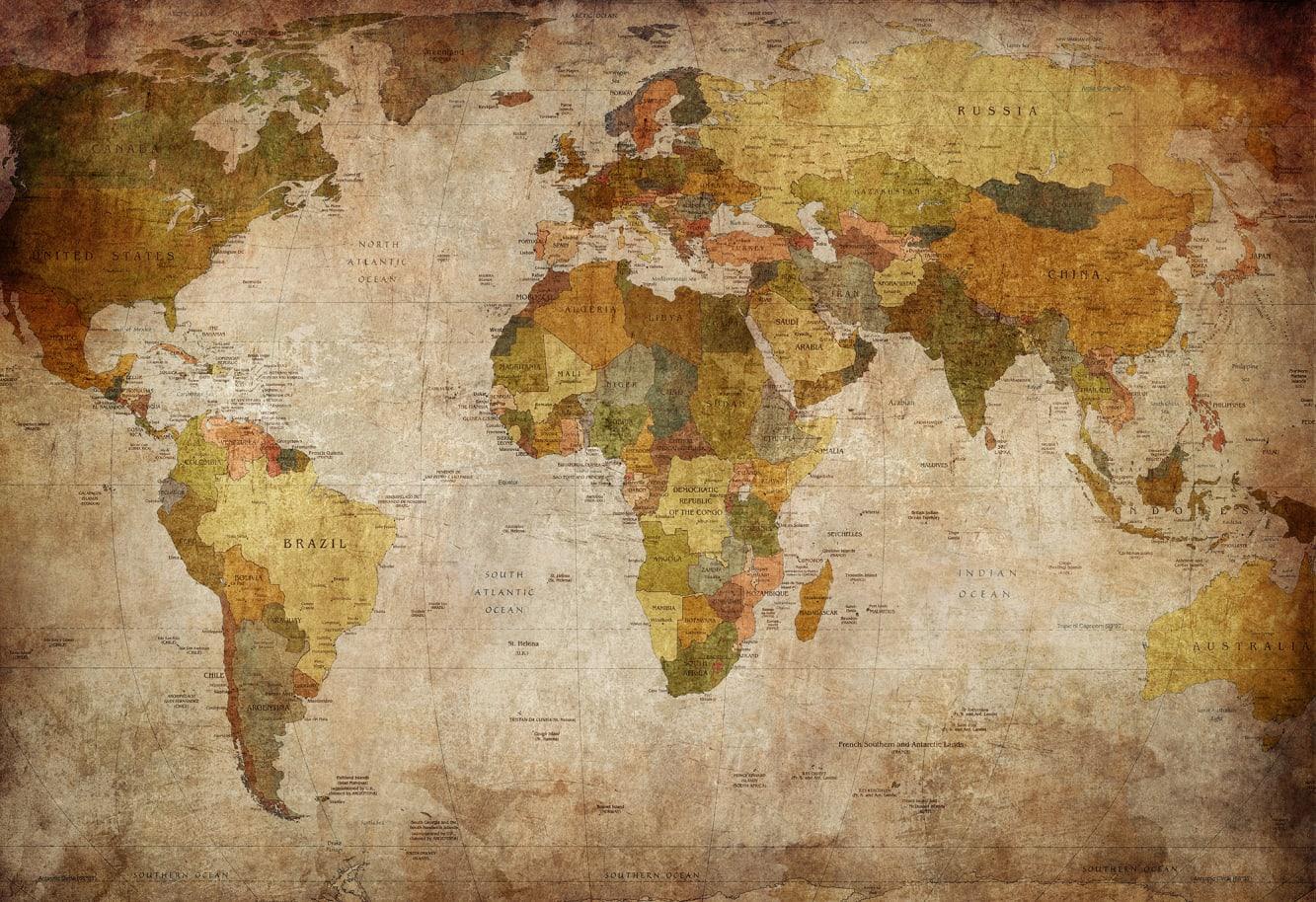 World Map R10771 Rebel Walls Uk