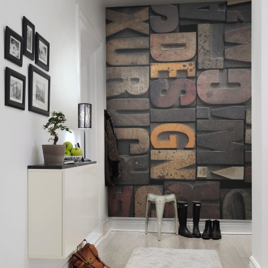 Tapete R10511 Woodcut, Design Bild 1 von Rebel Walls