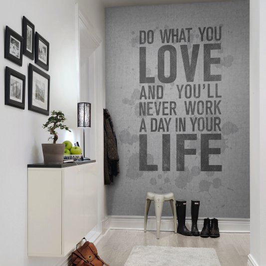 Wall Mural R12402 Quotes, concrete image 1 by Rebel Walls