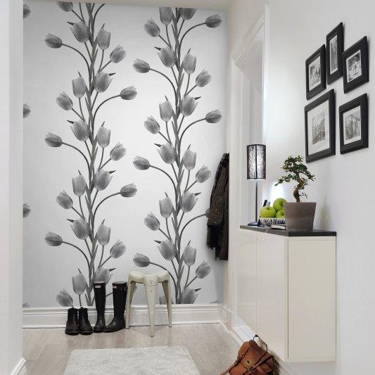 Tapete R13062 La Vie En Tulipe, White Bild 1 von Rebel Walls