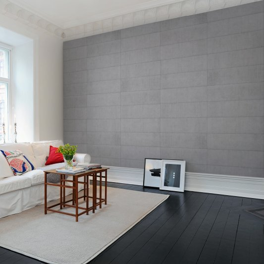 Tapete R10911 Rectangular Concrete Tiles Bild 1 von Rebel Walls
