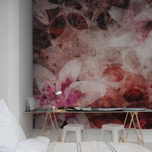 Wall Mural R12063 Garden of Dreams, red image 1 by Rebel Walls