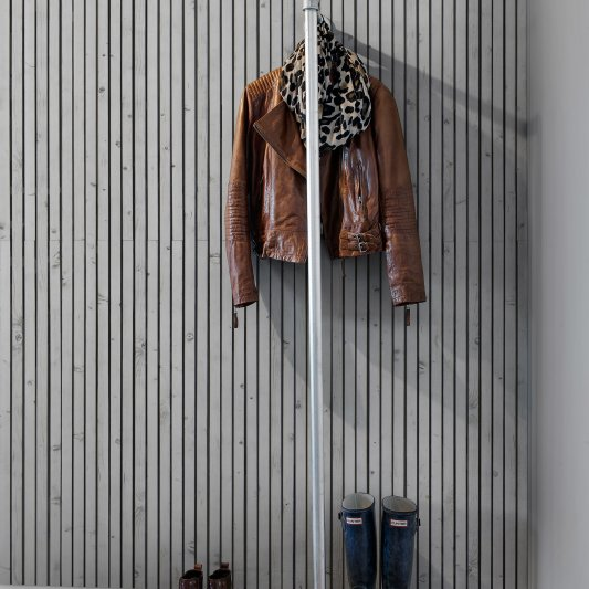 Tapete R12033 Wooden Slats, white Bild 1 von Rebel Walls
