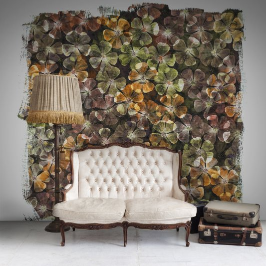 Wall Mural R12242 Bloom, amber image 1 by Rebel Walls