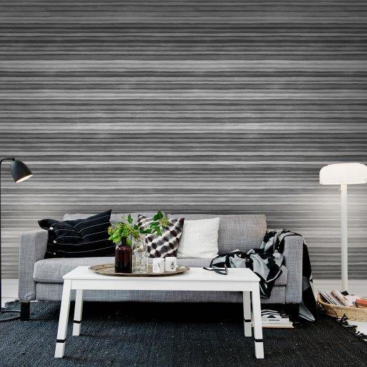 Tapete R12353 Ribbon, black&white Bild 1 von Rebel Walls