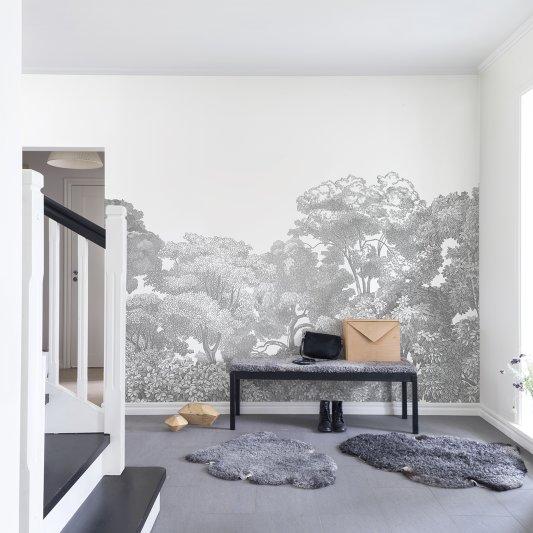 Wall Mural R13054 Bellewood, Grey Toile image 1 by Rebel Walls