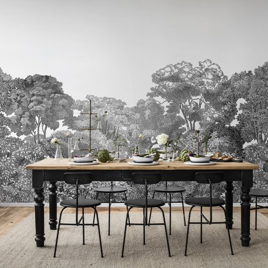 Wall Mural R13053 Bellewood, Black Toile image 1 by Rebel Walls