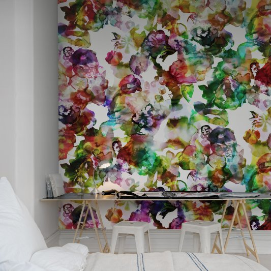 Wall Mural R13121 Lily Pond, Rainbow image 1 by Rebel Walls
