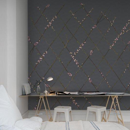 Tapete R13222 Winding Spring, Black Bild 1 von Rebel Walls