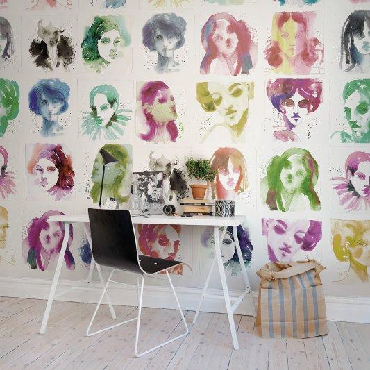 Tapete R50307 Girls Bild 1 von Rebel Walls