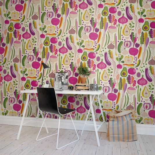 Tapete R50802 Fruits & Roots Bild 1 von Rebel Walls