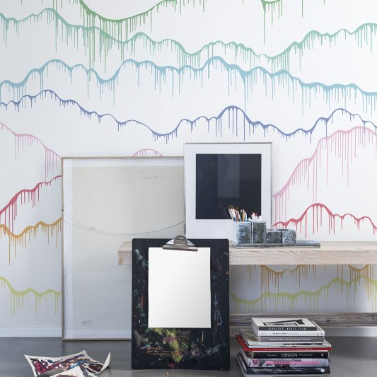 Wall Mural R13332 Elevation, rainbow image 1 by Rebel Walls