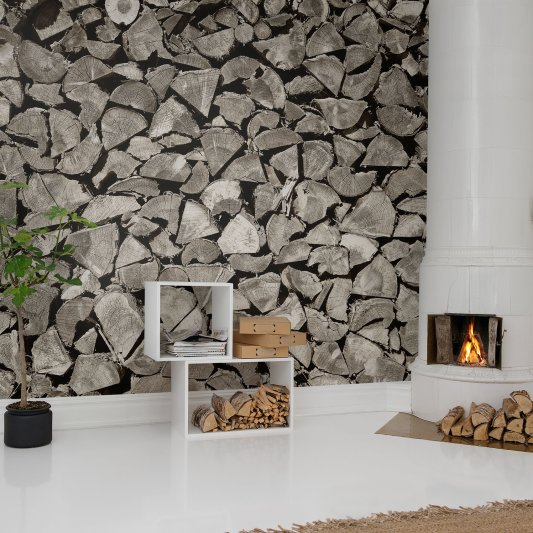 Tapete R13641 Woodpile Bild 1 von Rebel Walls