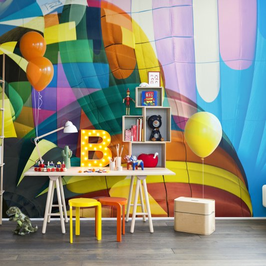 Wall Mural R14051 Ballons Flying High image 1 by Rebel Walls