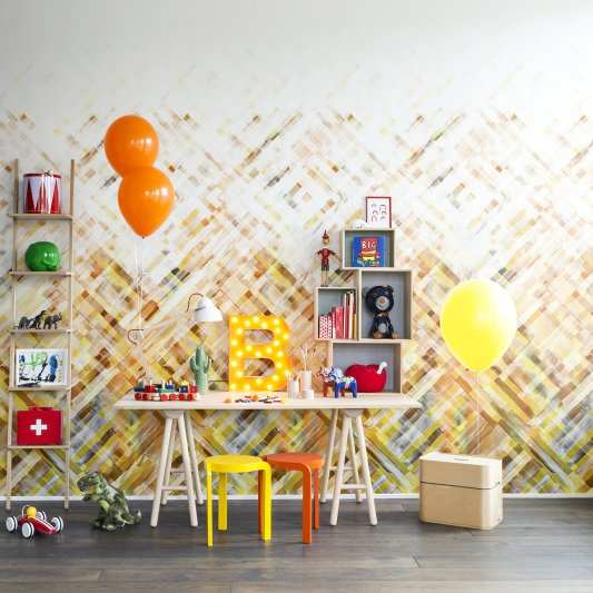 Wall Mural R12891 Dream Weaver, yellow image 1 by Rebel Walls