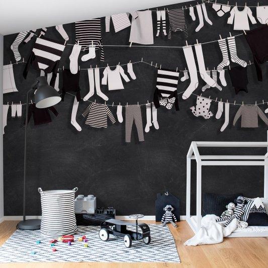Tapete R14441 Laundry Day Bild 1 von Rebel Walls