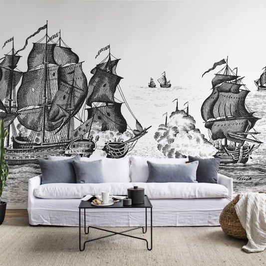Wall Mural R14501 High Seas, Black image 1 by Rebel Walls