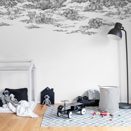 Tapete R14511 Cotton Skies, Black Bild 1 von Rebel Walls