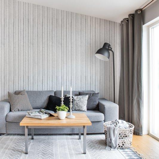 Tapete R14721 Swedish Cottage, White Bild 1 von Rebel Walls
