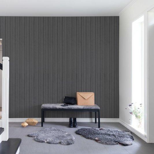 Tapete R14722 Swedish Cottage, Grey Bild 1 von Rebel Walls
