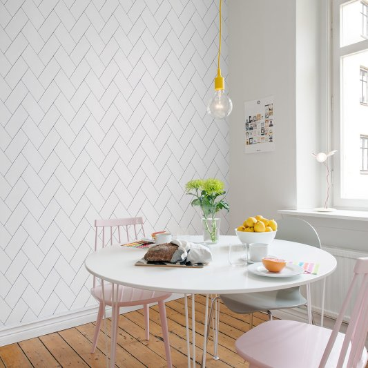 Tapete R14781 Fishbone Tiles Bild 1 von Rebel Walls