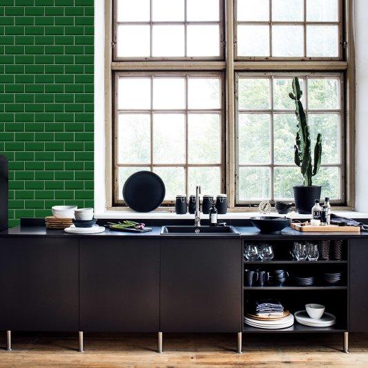 Tapete R14863 Bistro Tiles, Green Bild 1 von Rebel Walls