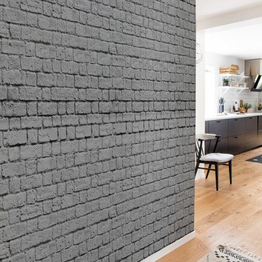 Tapete R14872 Soft Bricks, Grey Bild 1 von Rebel Walls
