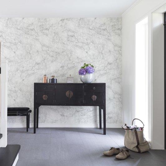 Tapete R14682 Noble Marble, White Bild 1 von Rebel Walls