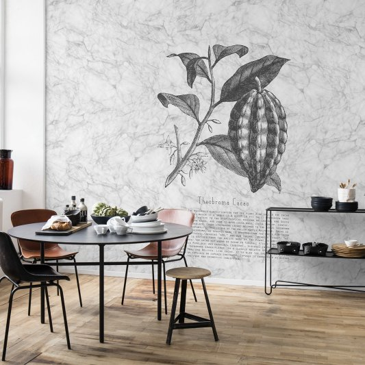 Wall Mural R14683 Noble Marble, Cacao image 1 by Rebel Walls