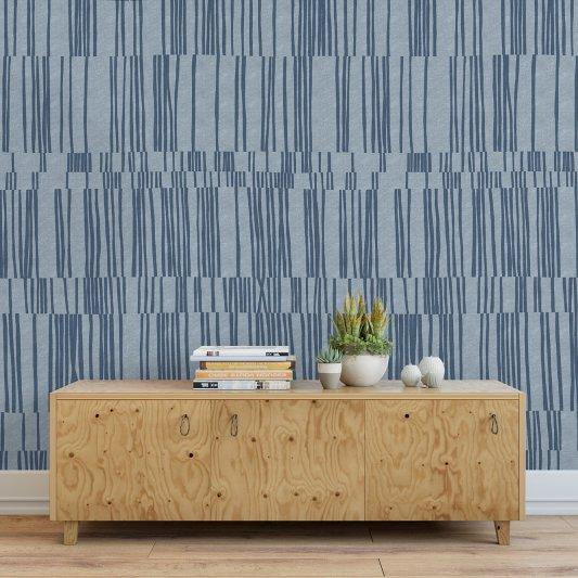 Tapete R15152 Sea Reflections, Blue Bild 1 von Rebel Walls