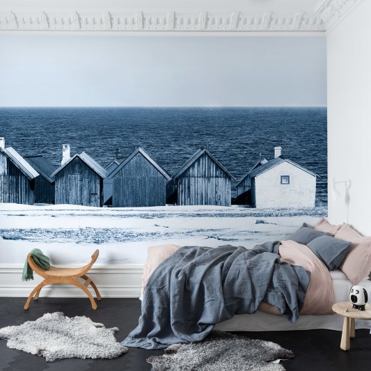 Tapete R13691 Boathouse Blues Bild 1 von Rebel Walls