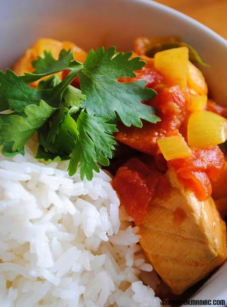 Recipe Indian-style Salmon Curry with Tomato & Lime
