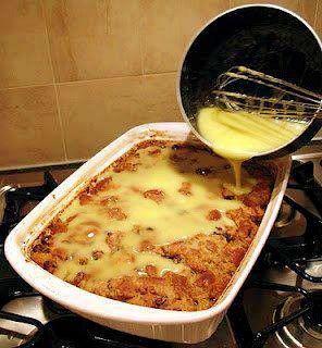 Granny's Old-Fashioned Bread Pudding with Vanilla Sauce