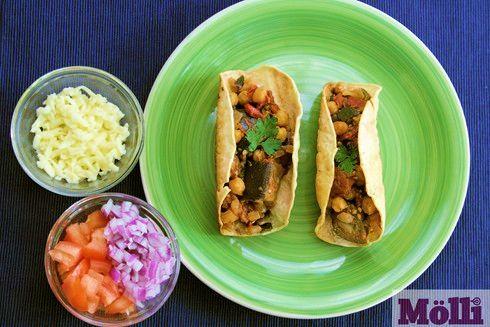 Eggplant tacos (Tacos de berenjena)