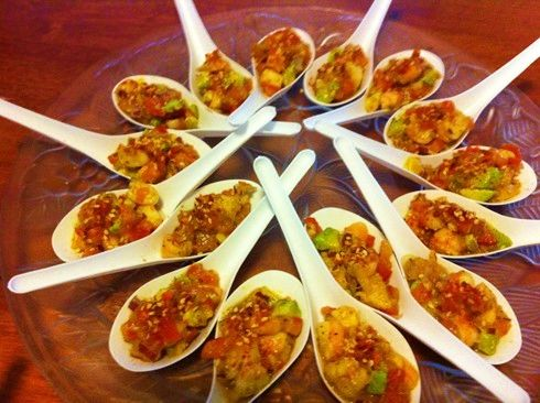 Mexican Prawn Canapes