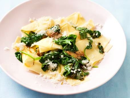 Broken Lasagna with Garlic & Baby Spinach