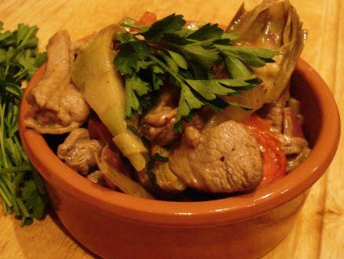 Sardinian Style Lamb with Artichokes