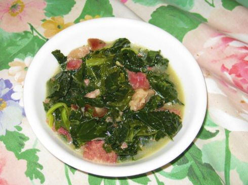 Southern Greens with Ham Hocks and Turnips