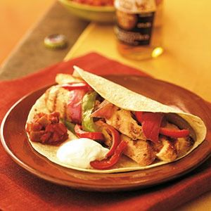 Deep Covered Baker Chicken Fajitas