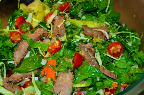Crying Tiger Beef Salad